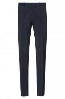 Extra Slim-Fit Hose aus Schurwoll-Popeline, Dark Blue